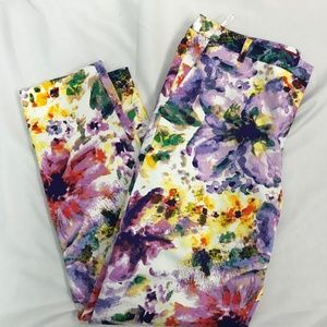 Essentials by Sioni Floral Ankle Pants
